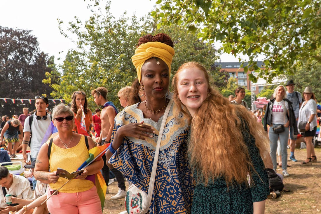 Gay Pride Malmö 2019 All nationalities, all colors, all people together at the LGBTQ+ festival at Folkets Park Malmö © Coupleofmen.com