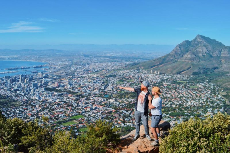 Gay Couple City Trip Cape Town Isn't that a stunning view from Lion's Head viewing platform © Coupleofmen.com