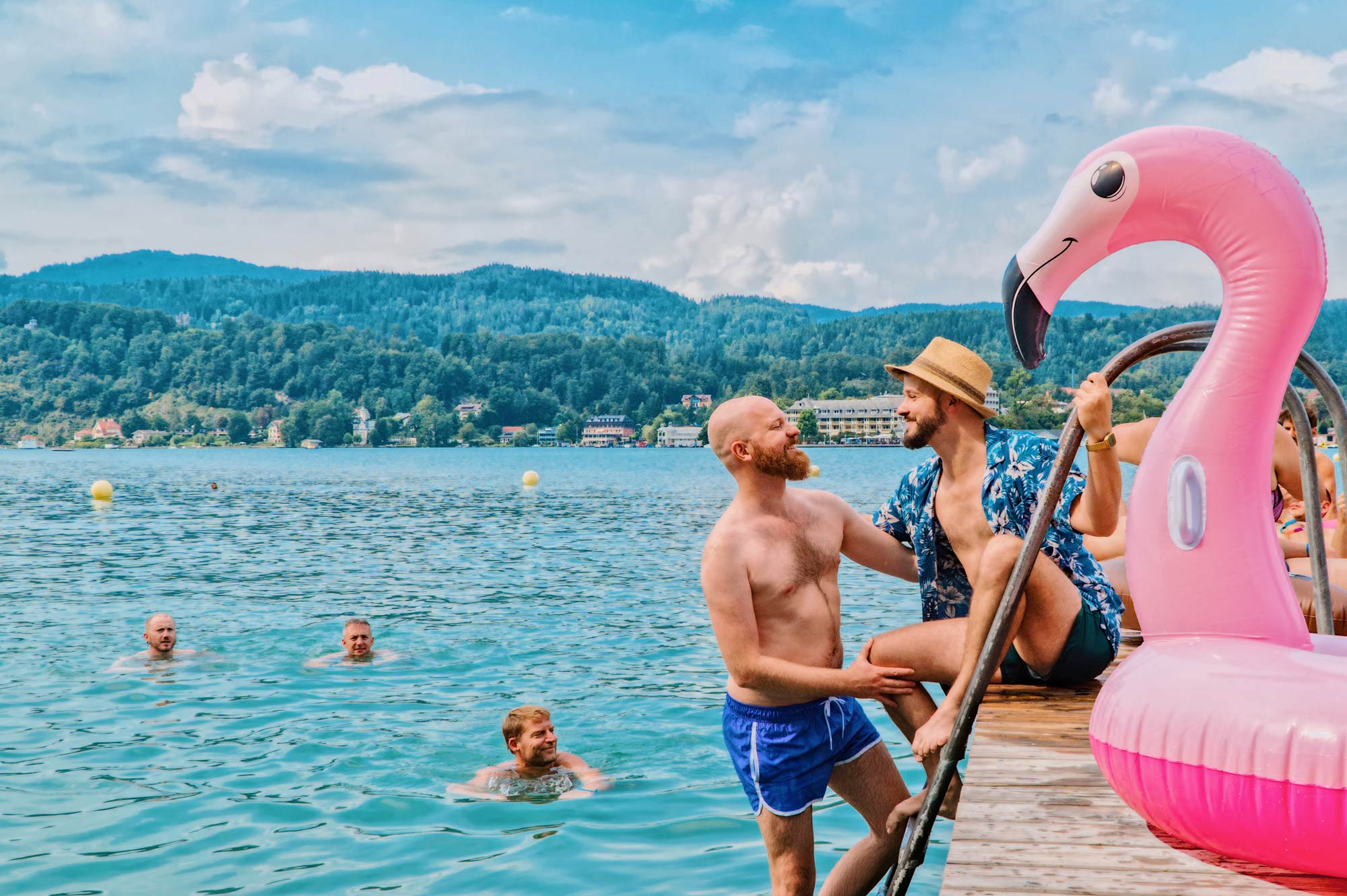 7 Reasons Why You Should Attend Pink Lake Festival Austria in 2020 © Coupleofmen.com