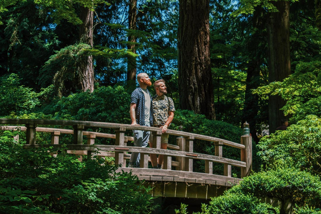 Such a wonderful atmosphere in Portland's Japanese Garden © Coupleofmen.com
