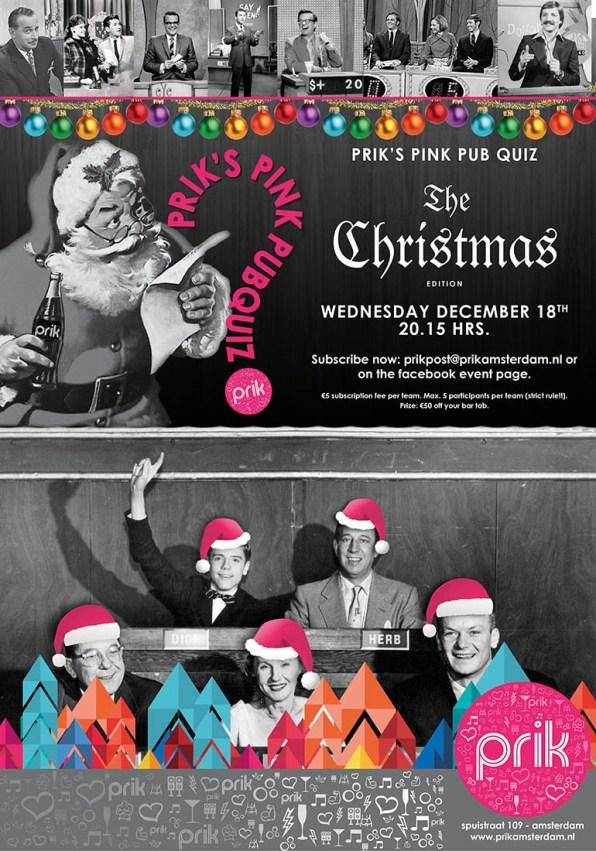 Pink Christmas Events at Prik Pink Pubquiz   Gay-Christmas Markets 2019 © PRIK Amsterdam
