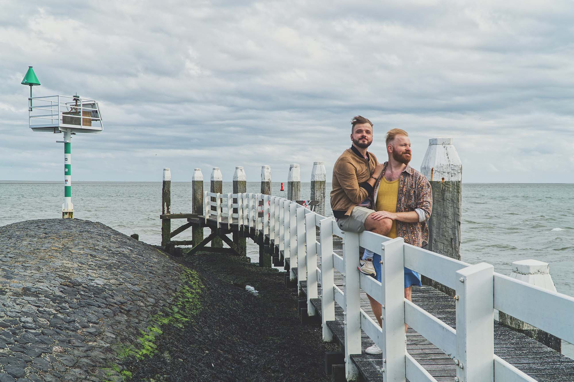 Gay Vlieland Trip Welcoming boats and ships in the harbor of Vlieland © Coupleofmen.com