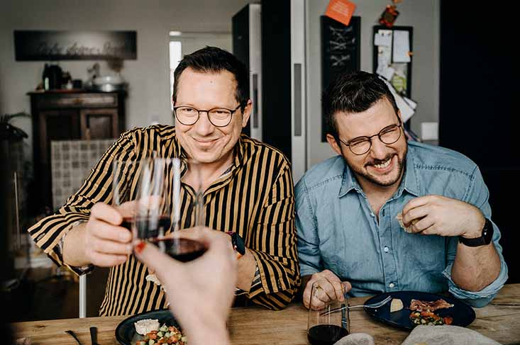 Die Jungs kochen und backen Meet Torsten and Sascha, gay couple food bloggers from