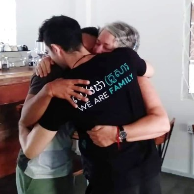 We are family - LGBTQ+ activists and supporters Jason, Tola and Jason's mom