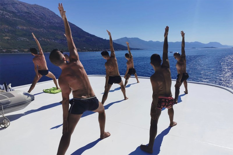 Morning Yoga on with a view © Prince Charming Gay Cruises