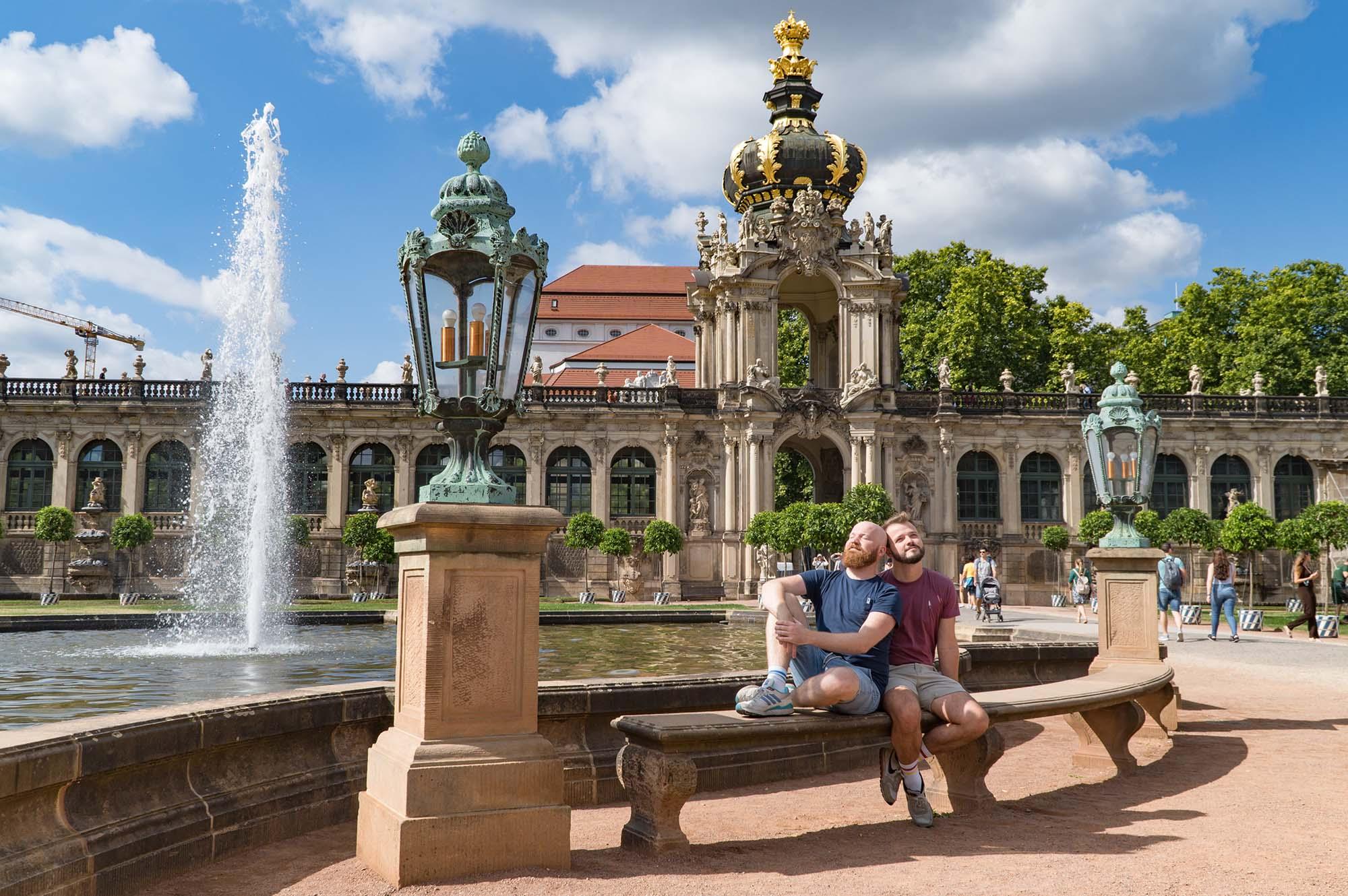 We enjoyed the wonderful weather in the Dresden Zwinger, Dresden-Altstadt © Coupleofmen.com