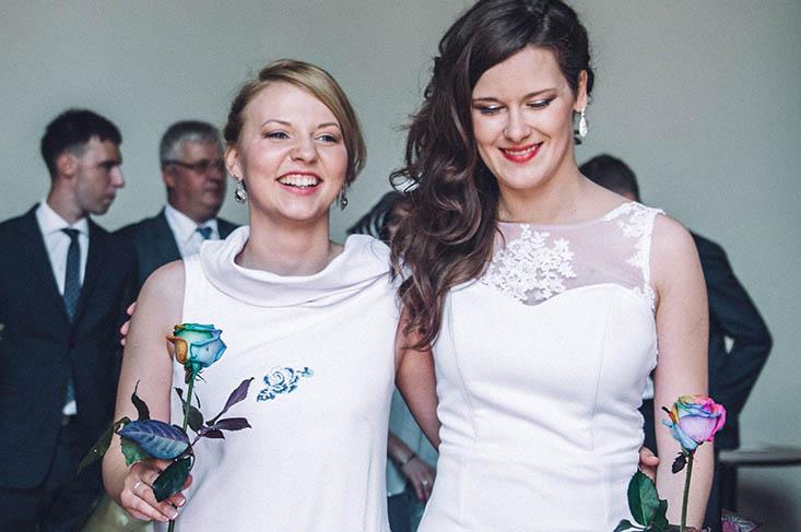 Lesbian Couple Diana Roksana Marriage by Jakub Nowotynski