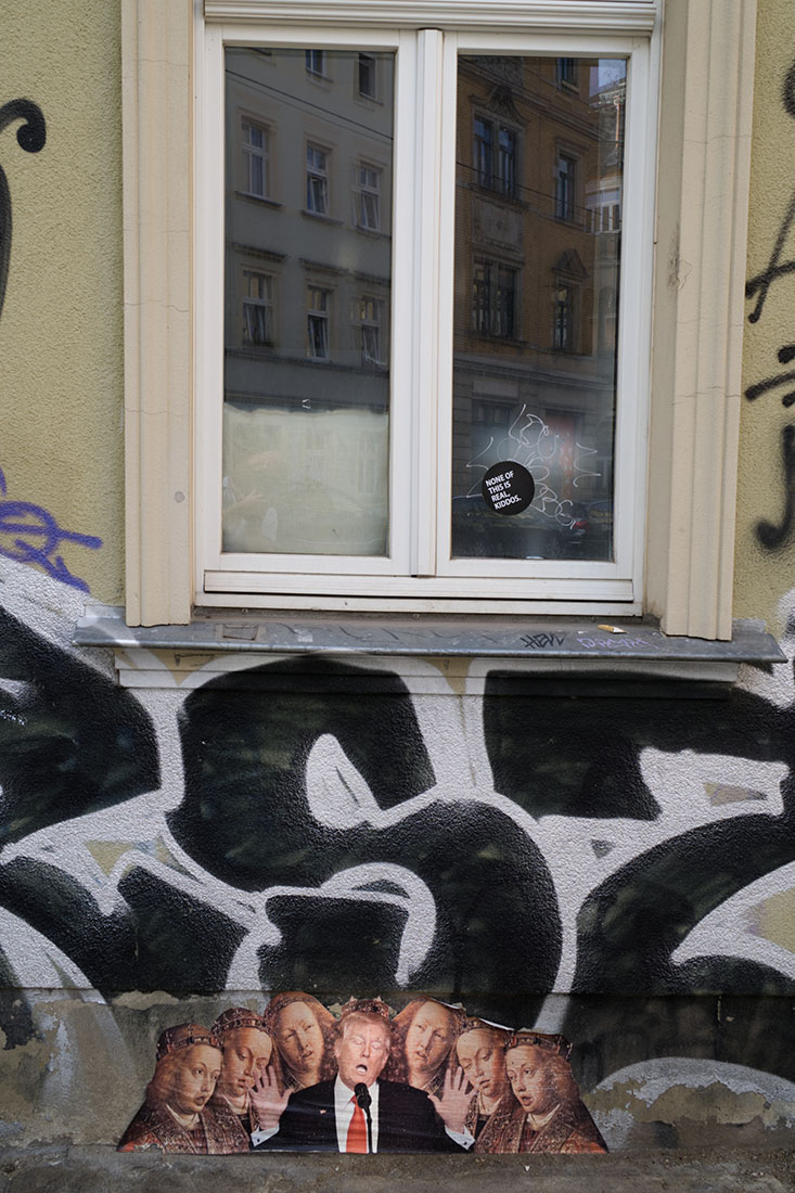 Street art in the alternative part of Dresden teasing Donald Trump © Coupleofmen.com