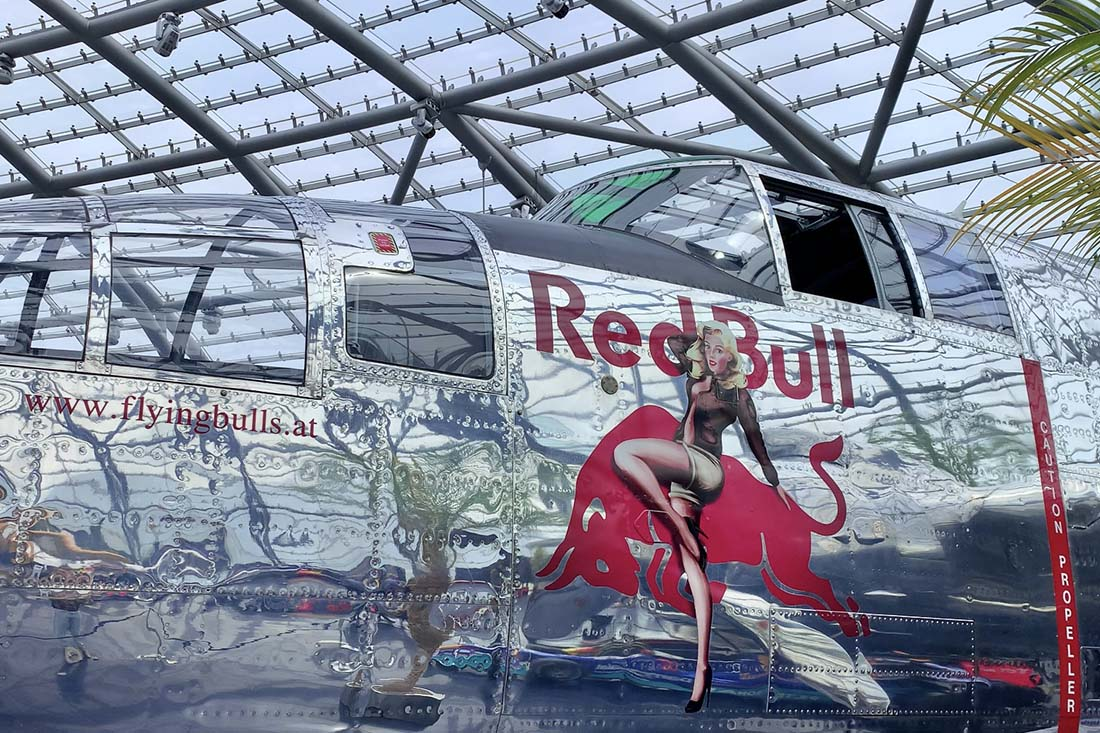 Plane exhibition at Hangar 7 by the Flying Bulls Plane Exhibition Red Bull © Coupleofmen.com