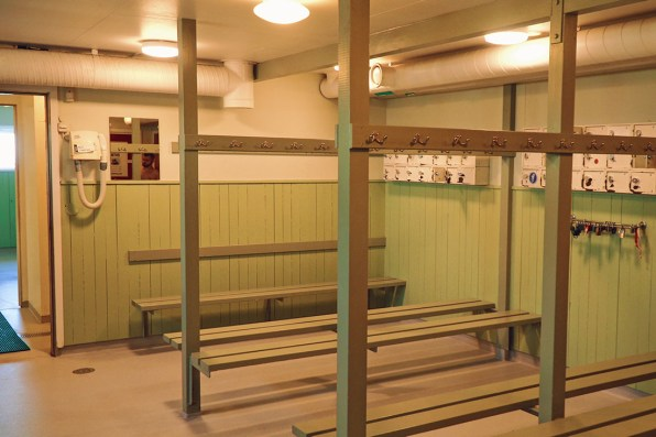 The changing rooms are spacious to hang your clothes for some skinny dipping at Ribersborgs Kallbadhus © Coupleofmen.com