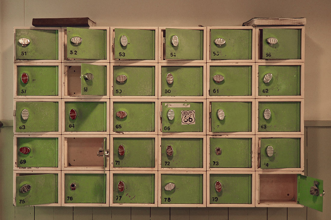 Bring a padlock or buy one at the door for the Ribersborgs Kallbadhus lockers © Coupleofmen.com