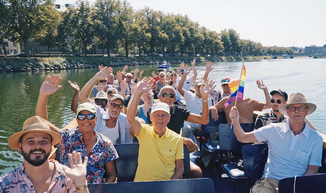 Queer boat tour in Malmö organised by the Swedish LGBTQ+ community RFSL © Coupleofmen.com