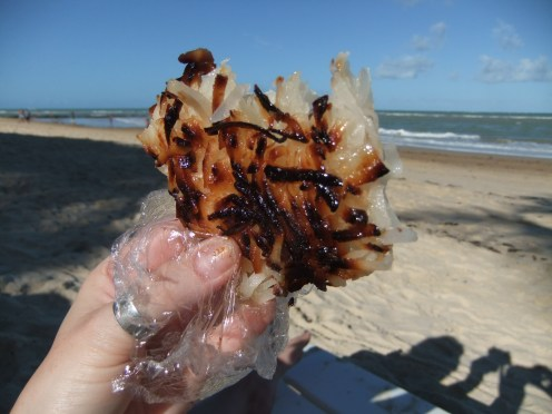 Grated coconut flapjack, Brazil