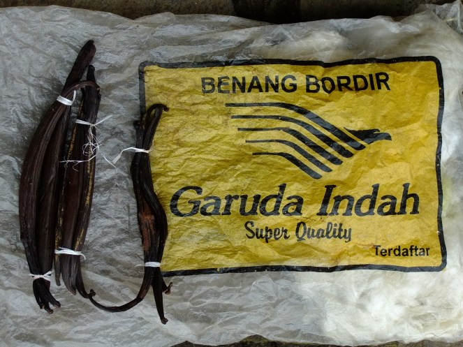 Vanilla pods for 30p!, nr Bajawa, Indonesia