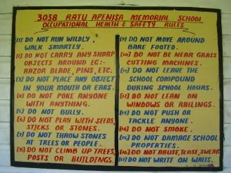 School rules, Naviti, Fiji