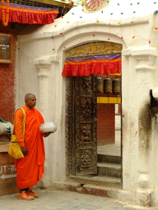 A funky monk (check out the matching trainers), Kathmandu, Nepal