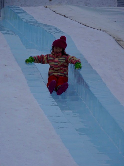 Ice slides for kids...