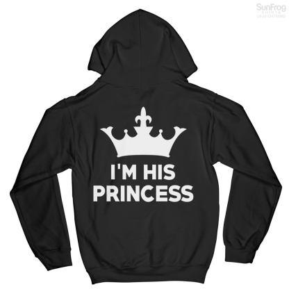 I'm His Princess Black Hoodie