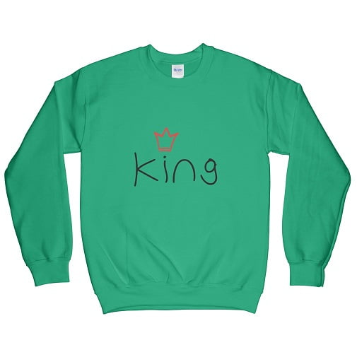 Irish Green King T-Shirt - couple hoodies sweatshirts