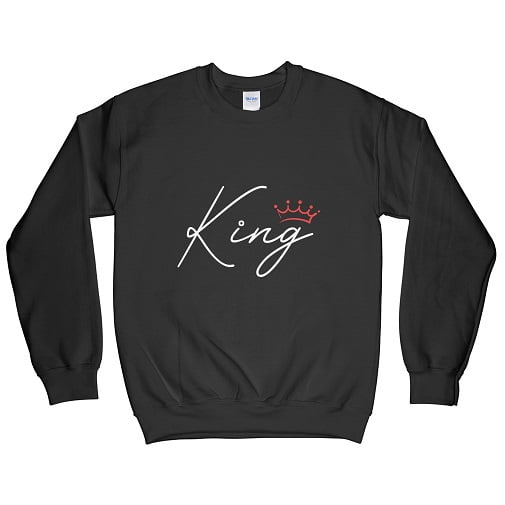 White King Hoodie Red Crown - t shirts for couples sweatshirts