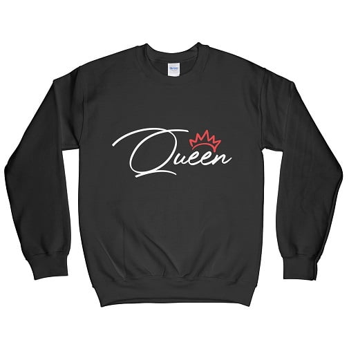 White Queen T-Shirt Red Crown - t shirts for couples sweatshirts