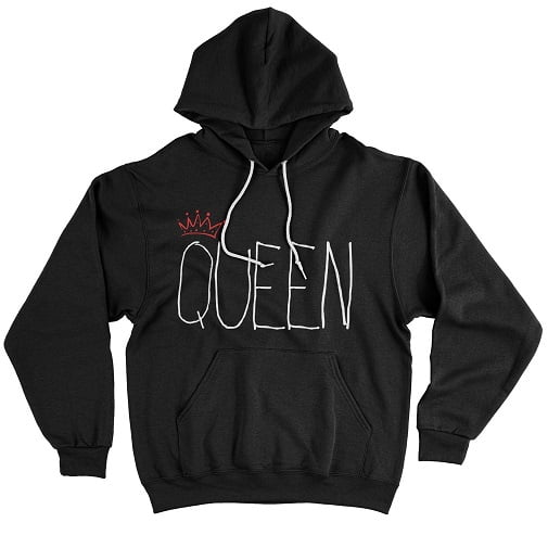 White Queen T-Shirt - matching hoodie for couples