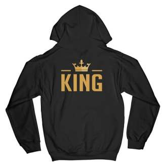 The King Matching Couple Hoodies