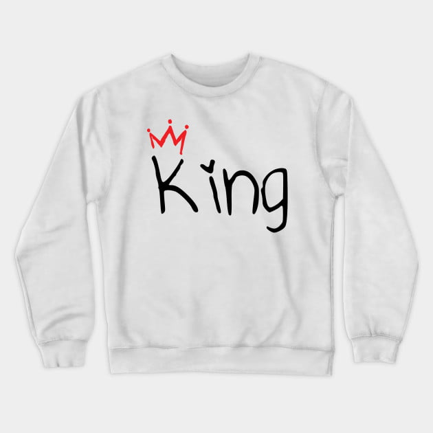 Matching King and Queen Couple Sweatshirts