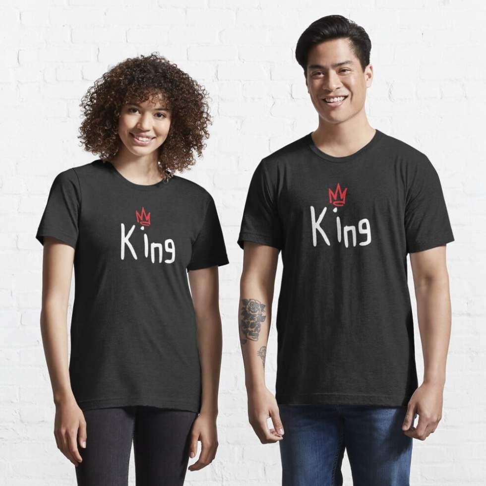 Cute Couple King Queen Essential T-Shirt