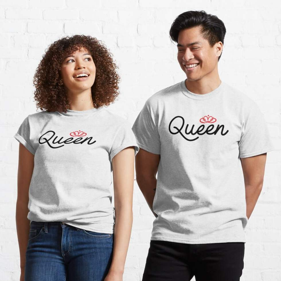 Cute King Queen Couple Hoodies Cheap