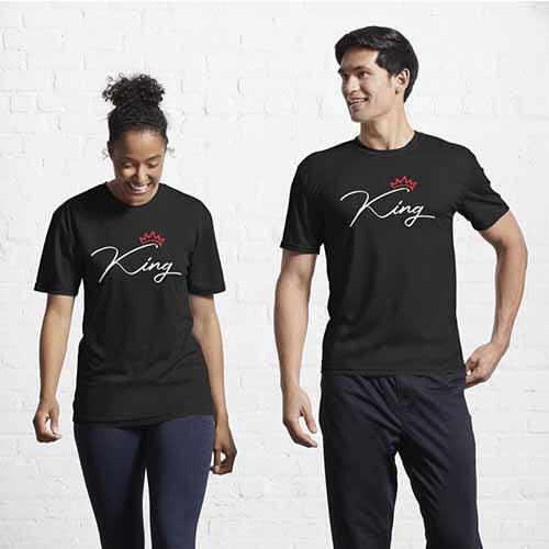 King Queen Couple Active T-Shirt