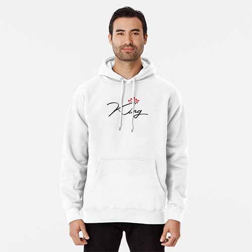 King Queen Couple Pullover Hoodie