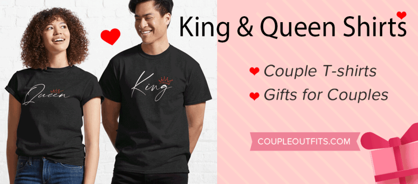 King Queen Couple Shirts banner