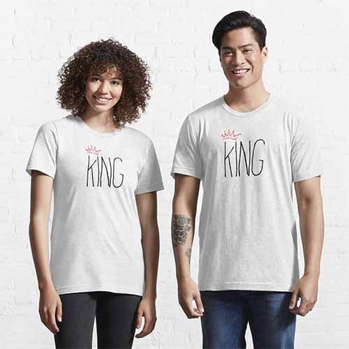 King Queen Couple T-Shirt