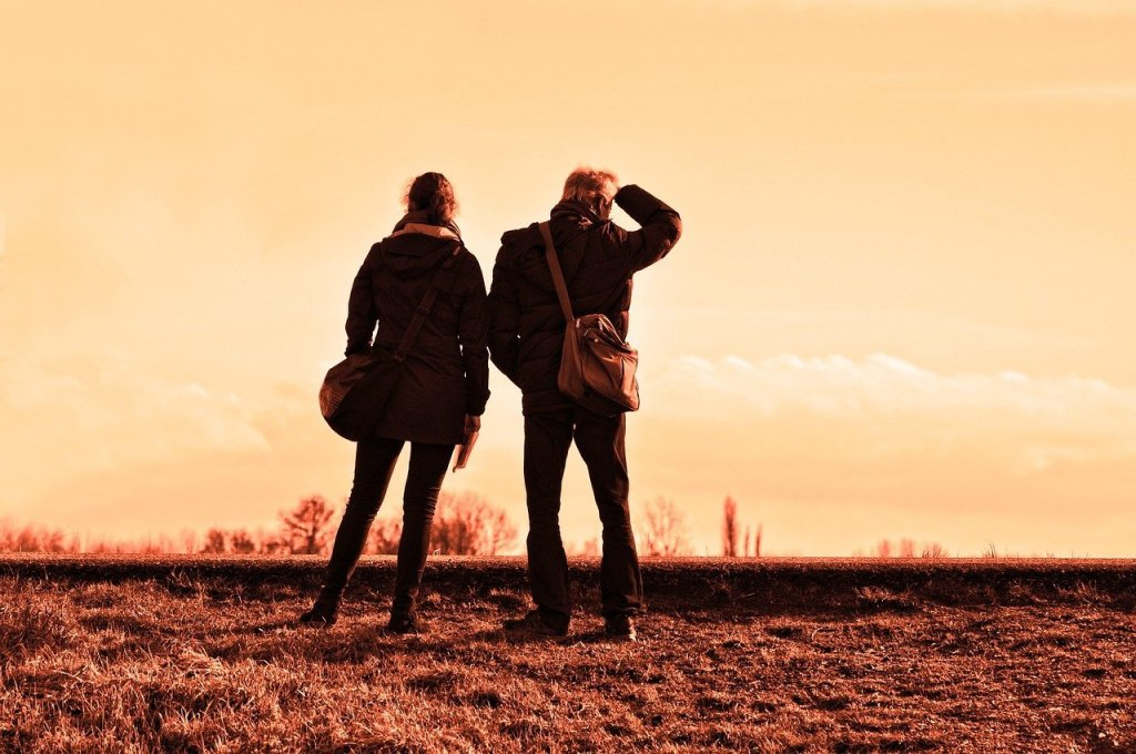 Couple exploring when to leave your marriage.