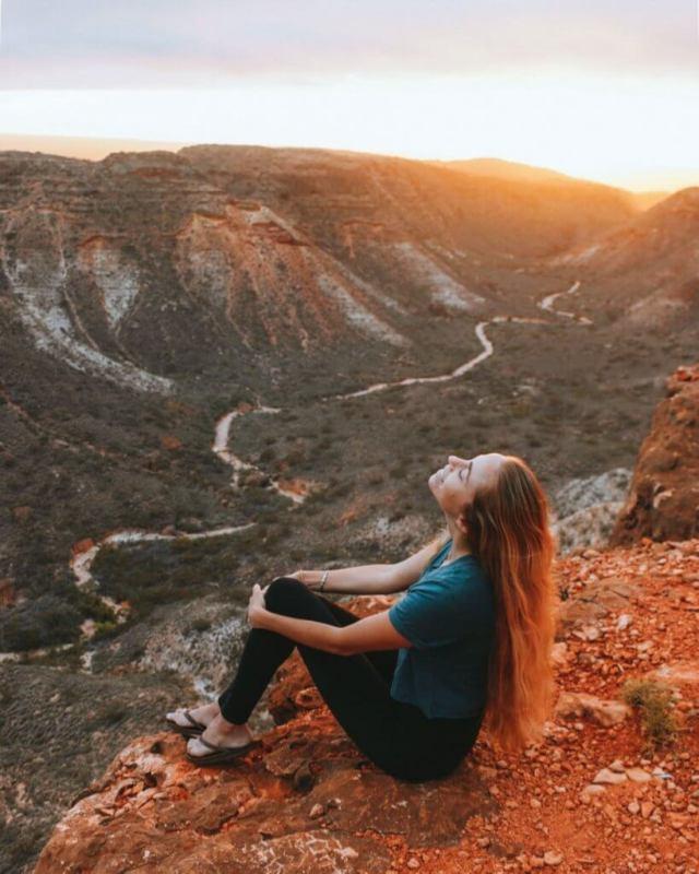 Alex à charles couteau canyon lever du soleil sur la gorge cape range national park