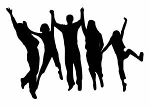 cheering, happy, jumping