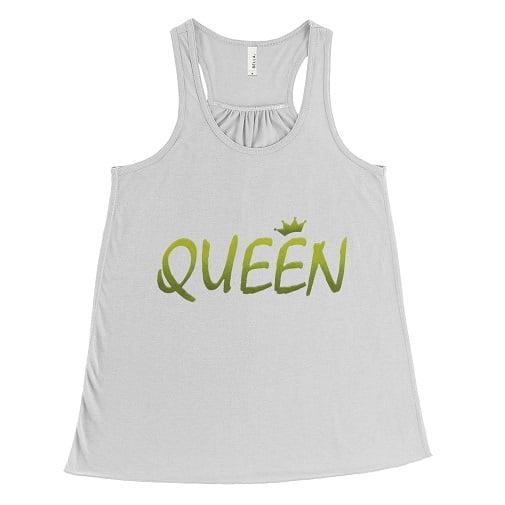 Green Queen T-Shirt Bella Flowy Tank
