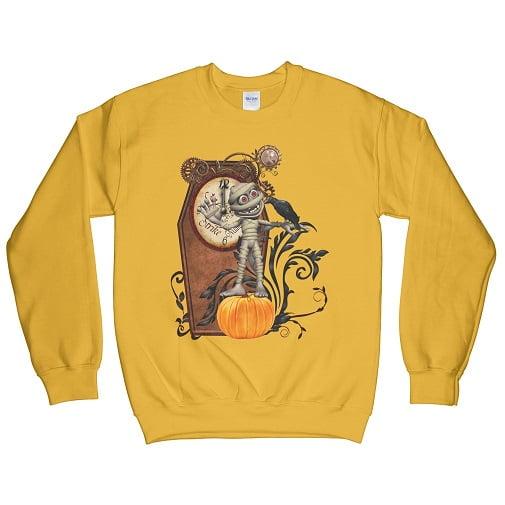 Funny mummy with crow and pumpkin t-shirt - pumpkin sweatshirt
