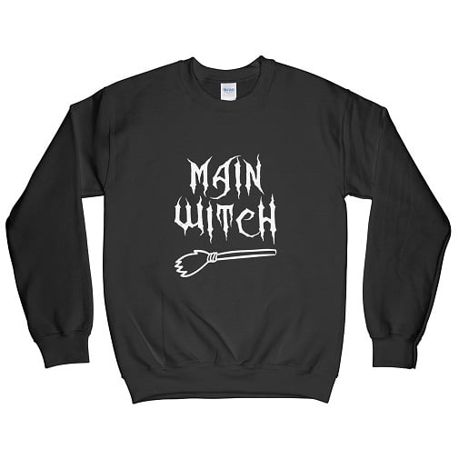 Main Witch Couples Halloween T-Shirt - WItch Halloween Seatshirt