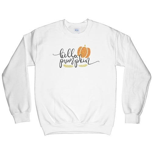 Hello Pumpkin T-Shirt - pumpkin sweatshirt