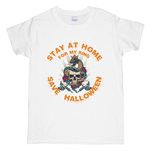 Stay At Home For My King Save Halloween Sweatshirt - couples halloween t shirts