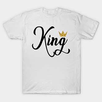 Cute King and Queen Couple T-Shirts