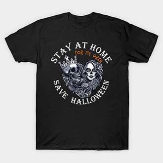 Couple King Queen Halloween T-Shirts