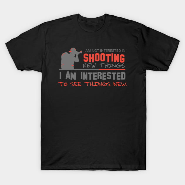Male Photographer T-Shirt