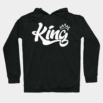 Cute Couple King and Queen Hoodies