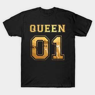 Desert Camels Couple  King Queen 01 T-Shirts