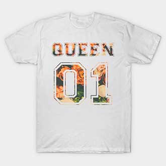 Flowers Couple King and Queen 01 Shirts