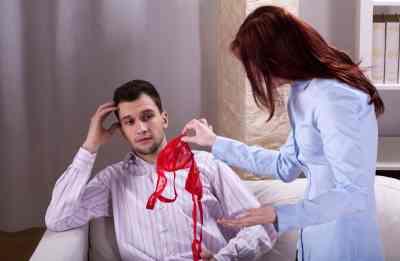 29189619 - wife finds somebody's underwear near her husband