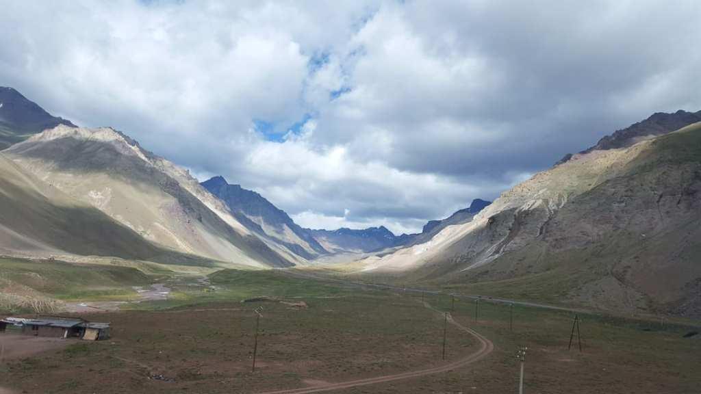 Andes Mountains Santiago to Mendoza side